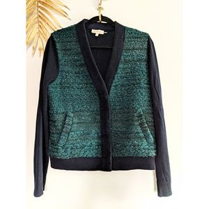 TORY BURCH Fuzzy Snap Button Cardigan with Pockets